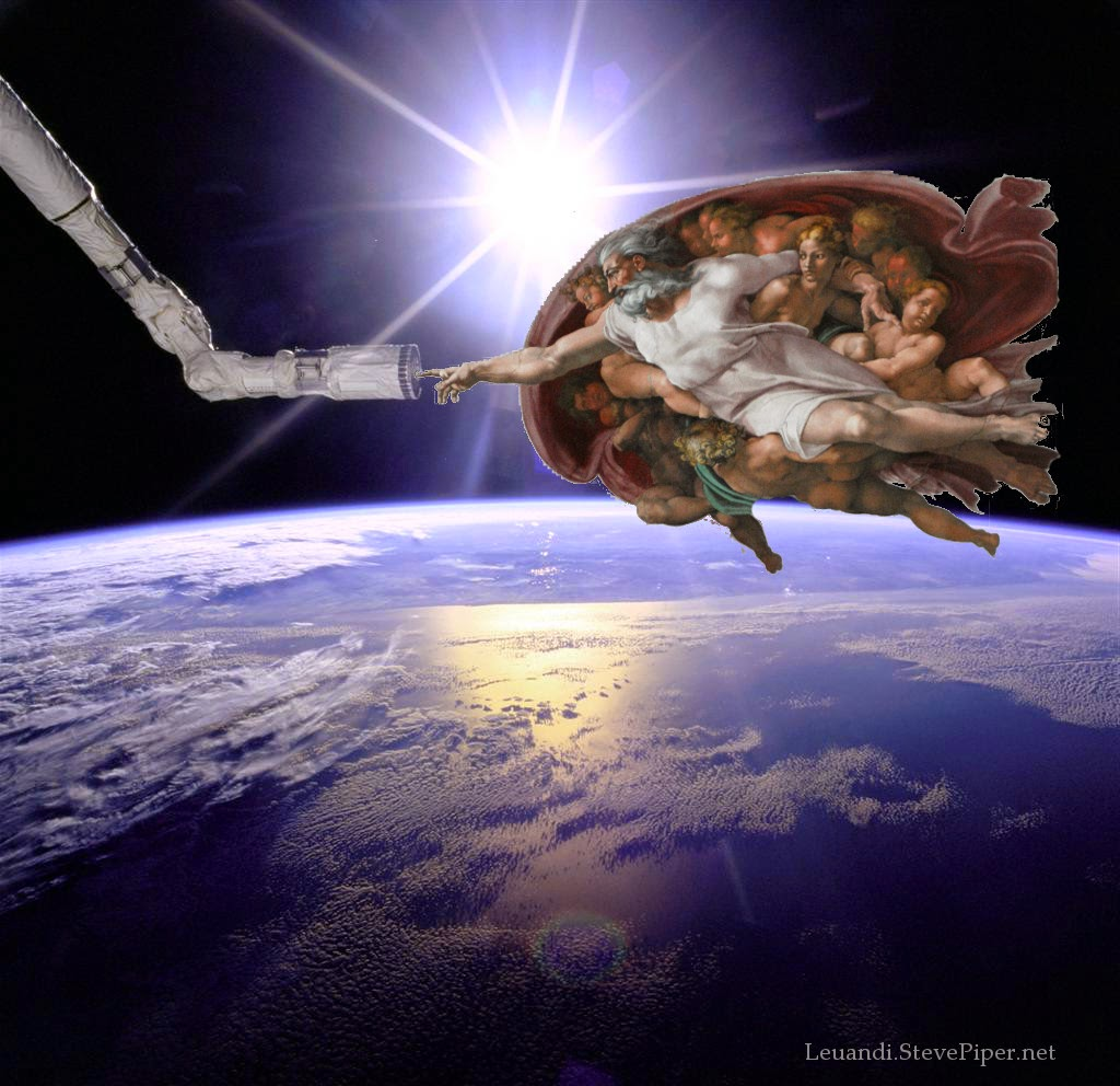 Hand of God, International Space Station, Michelangelo, NASA, Sistine Chapel