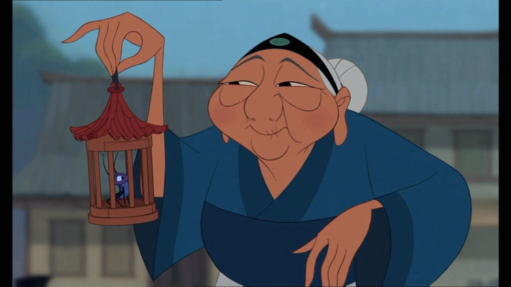 Cricket from mulan in cage