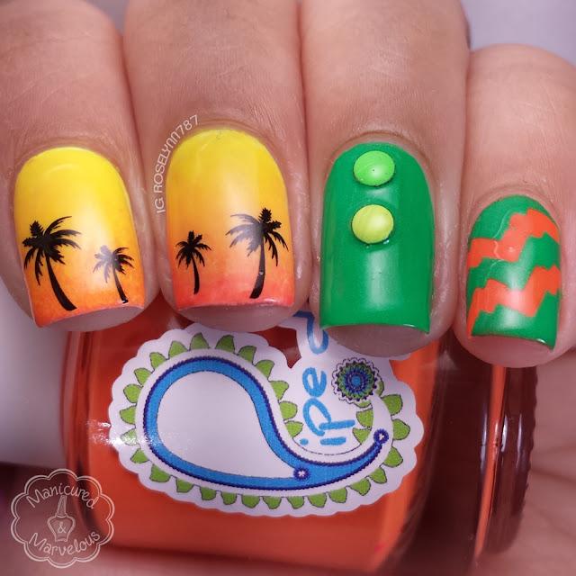 Born Pretty Store - Hawaii Palm Tree Water Decals