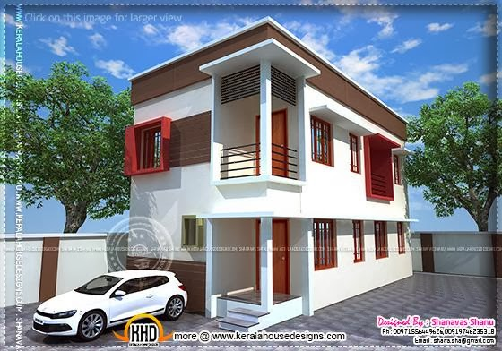 Small plot villa elevation