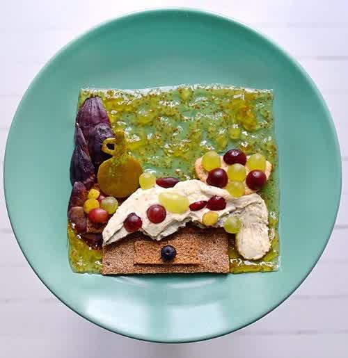 food art, toast project by Ida Skivenes