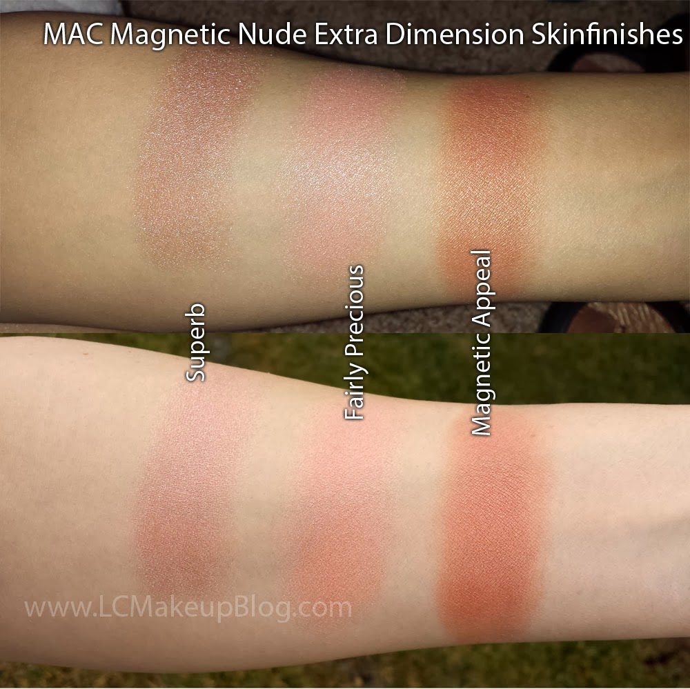 mac magnetic nude extra dimension skinfinish swatches