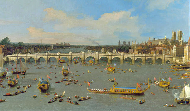 Canaletto, painting, Westminster Bridge, Lord Mayor's Show