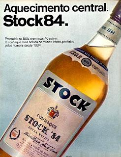 propaganda conhaque Stock 84 - 1973. 1973; os anos 70; propaganda na década de 70; Brazil in the 70s, história anos 70; Oswaldo Hernandez;