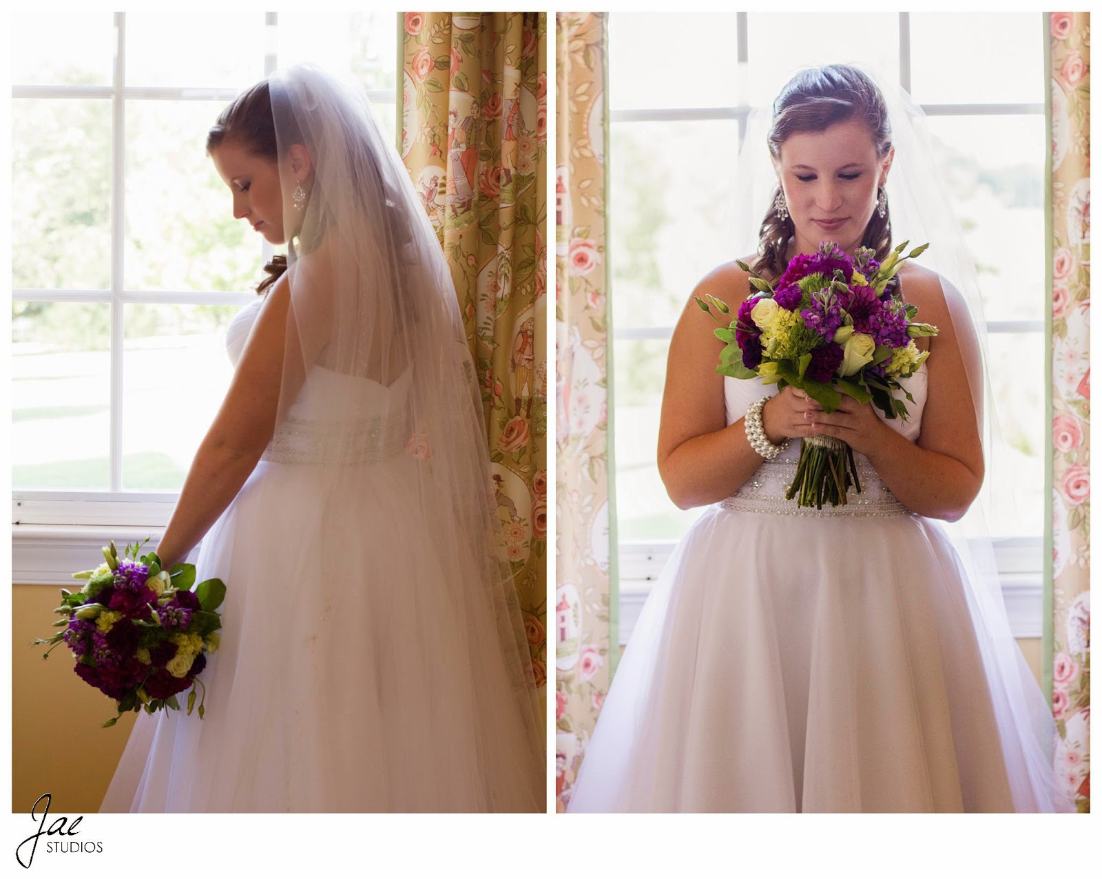 Jonathan and Julie, Bird cage, West Manor Estate, Wedding, Lynchburg, Virginia, Jae Studios. bride, flowers, posing, wedding dress, veil, bouquet, window