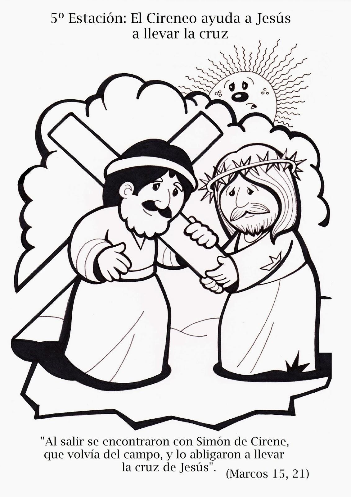 La Catequesis (El blog de Sandra): Vía Crucis para colorear los ...