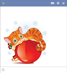 Holiday Cat Emoticon