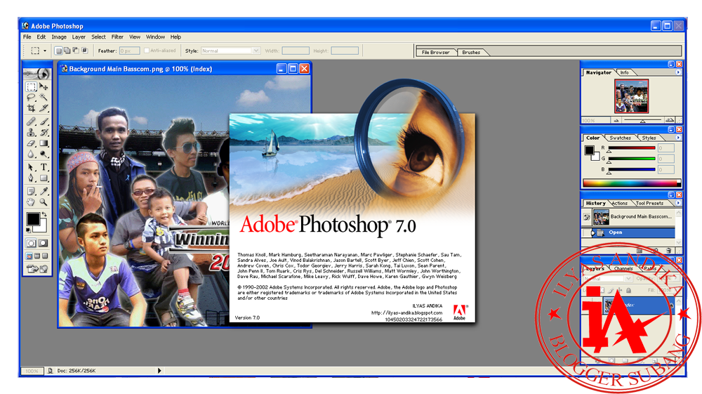 Adobe photoshop 7.0 full serial number