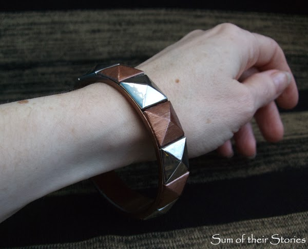 Geometric Bangle Refashion