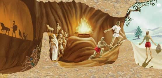 Explicación Gráfica del Mito de la Caverna de Platón ...
