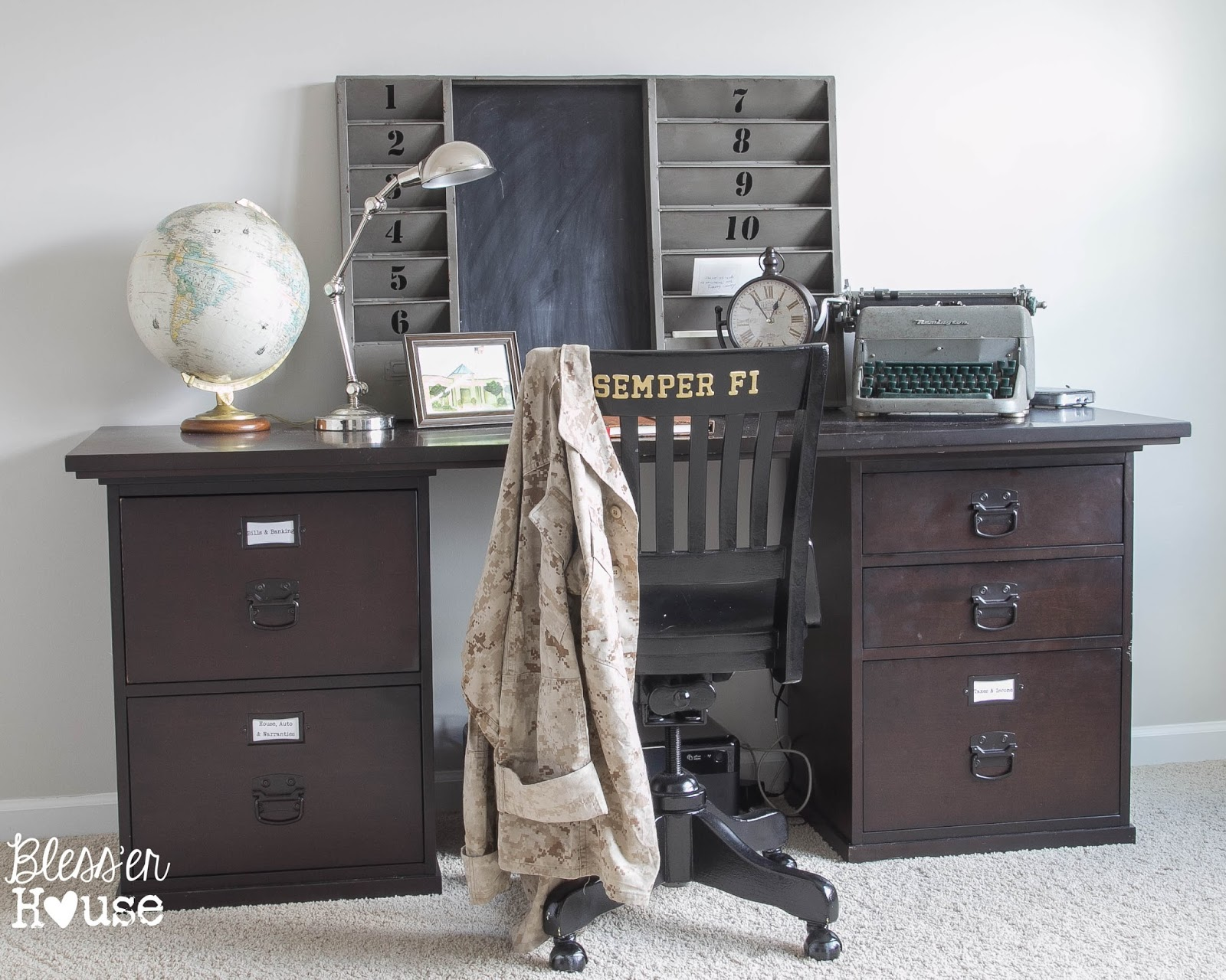 Vintage Inspired OfficeBless'er House-How I Found My Style Sundays- From My Front Porch To Yours
