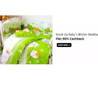 Get 76% off + cashback on Baby Winter Bedding :BuyToEarn