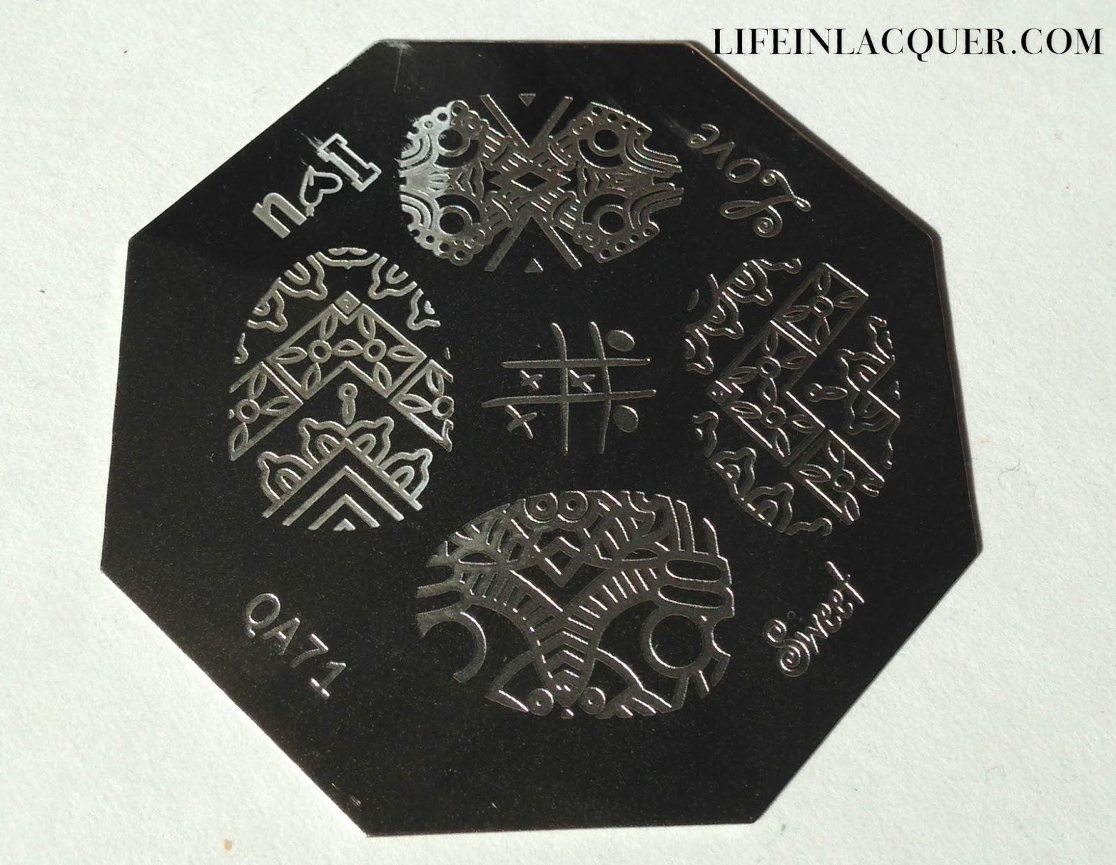 QA71 nail art stamping plate