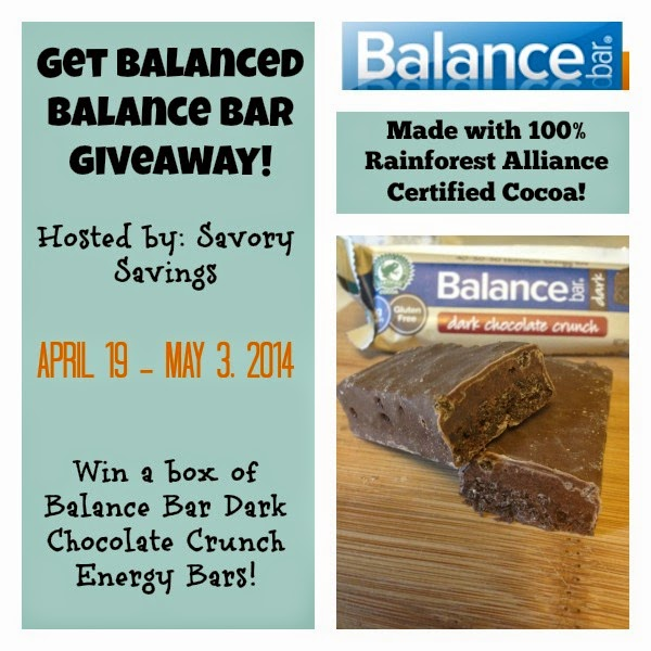 Balance Bar Chocolate Crunch Energy Bar Giveaway