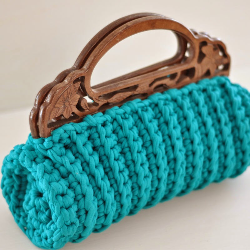 bolso trapillo crochet