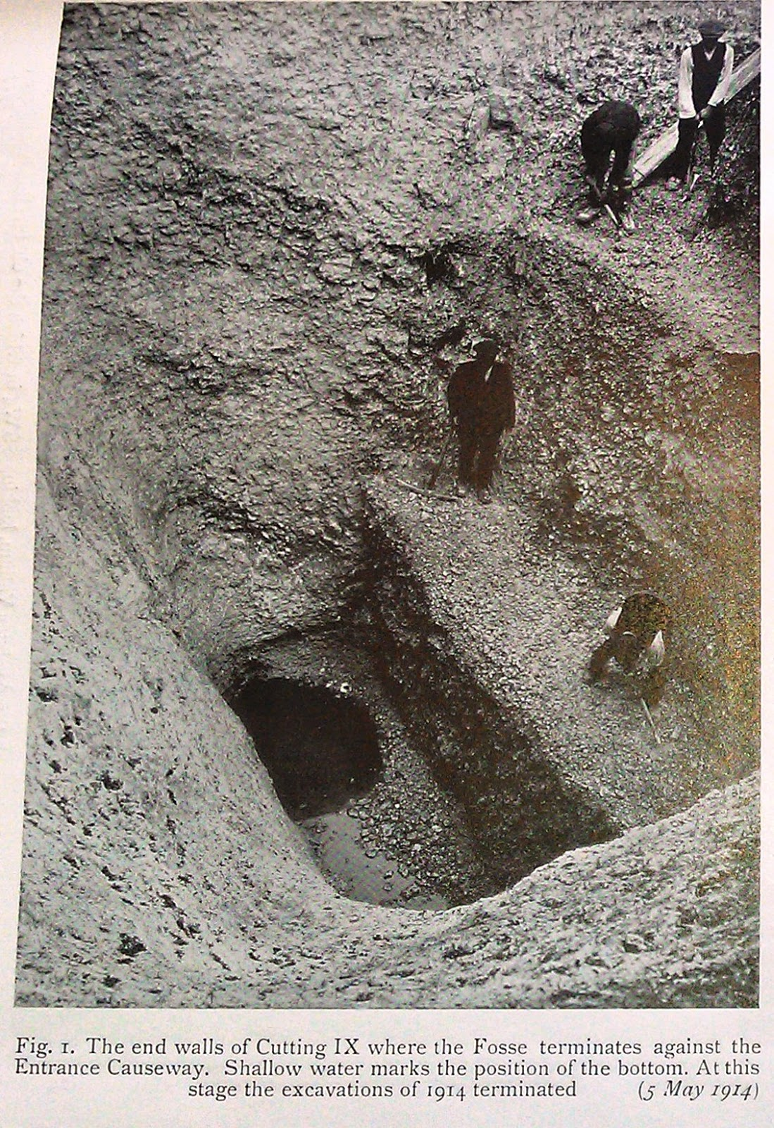 Avebury excavation ditch of the moat