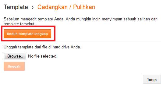 klik unduh template lengkap untuk memulai proses download template