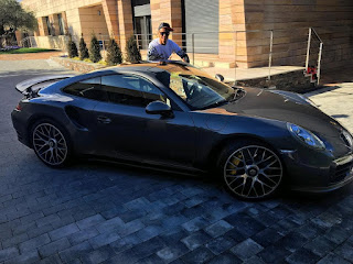 Cristiano Ronaldo Poses With His 43m Naira Porshe (Photo)