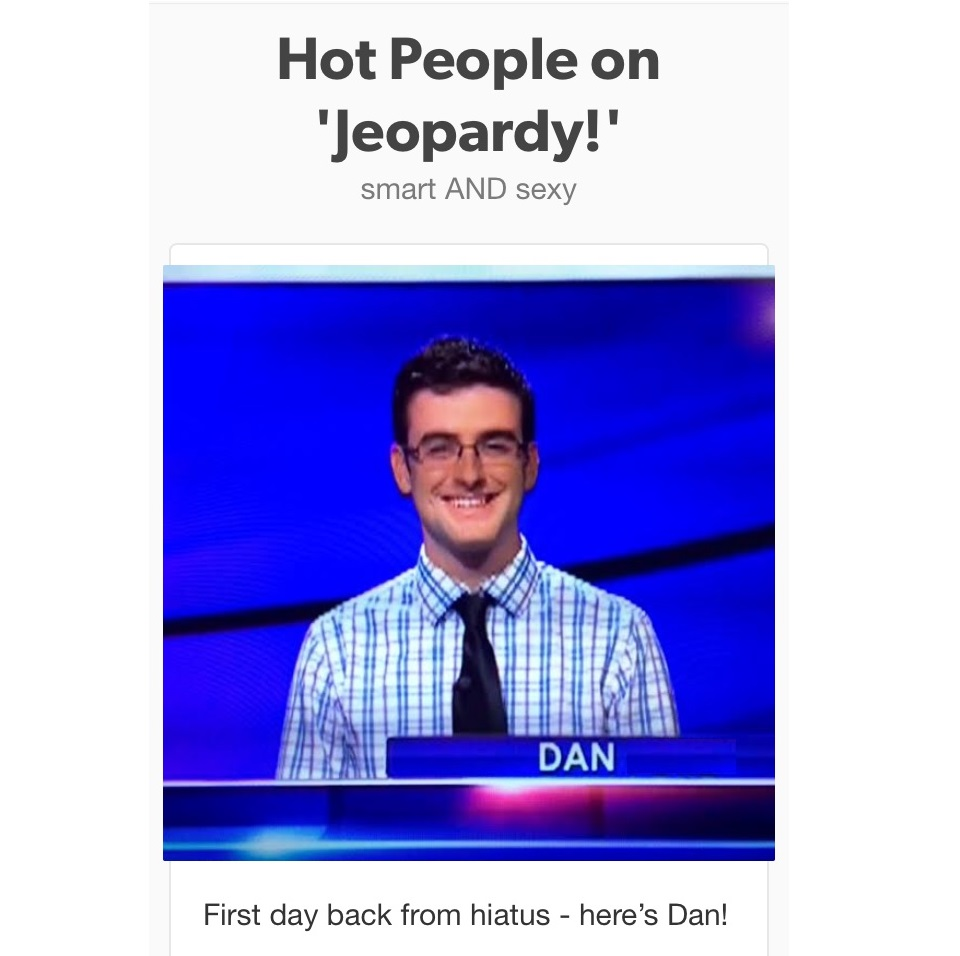 cozy birdhouse | dan on jeopardy hotties