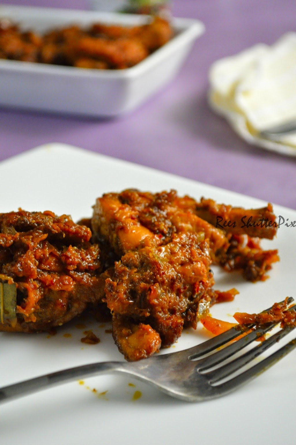 spicy chettinad chicken masala recipe with step by step pictures, easy chicken starter, chilli chicken masala recipe ,semi dry chicken
