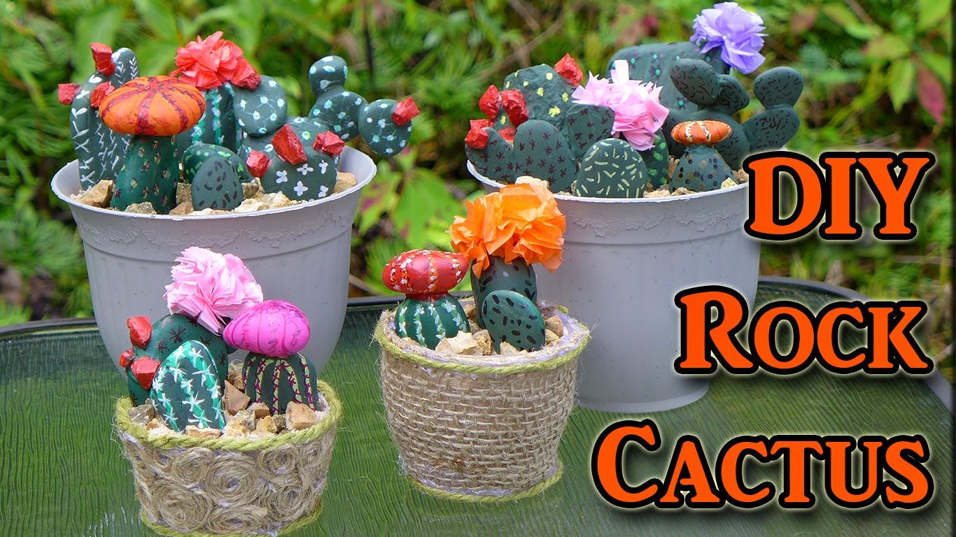 easymeworld diy painted rocks cactus decoration. Black Bedroom Furniture Sets. Home Design Ideas