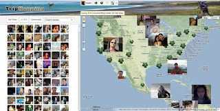 Showing your Triphopping, Facebook and CouchSurfing friends on the map