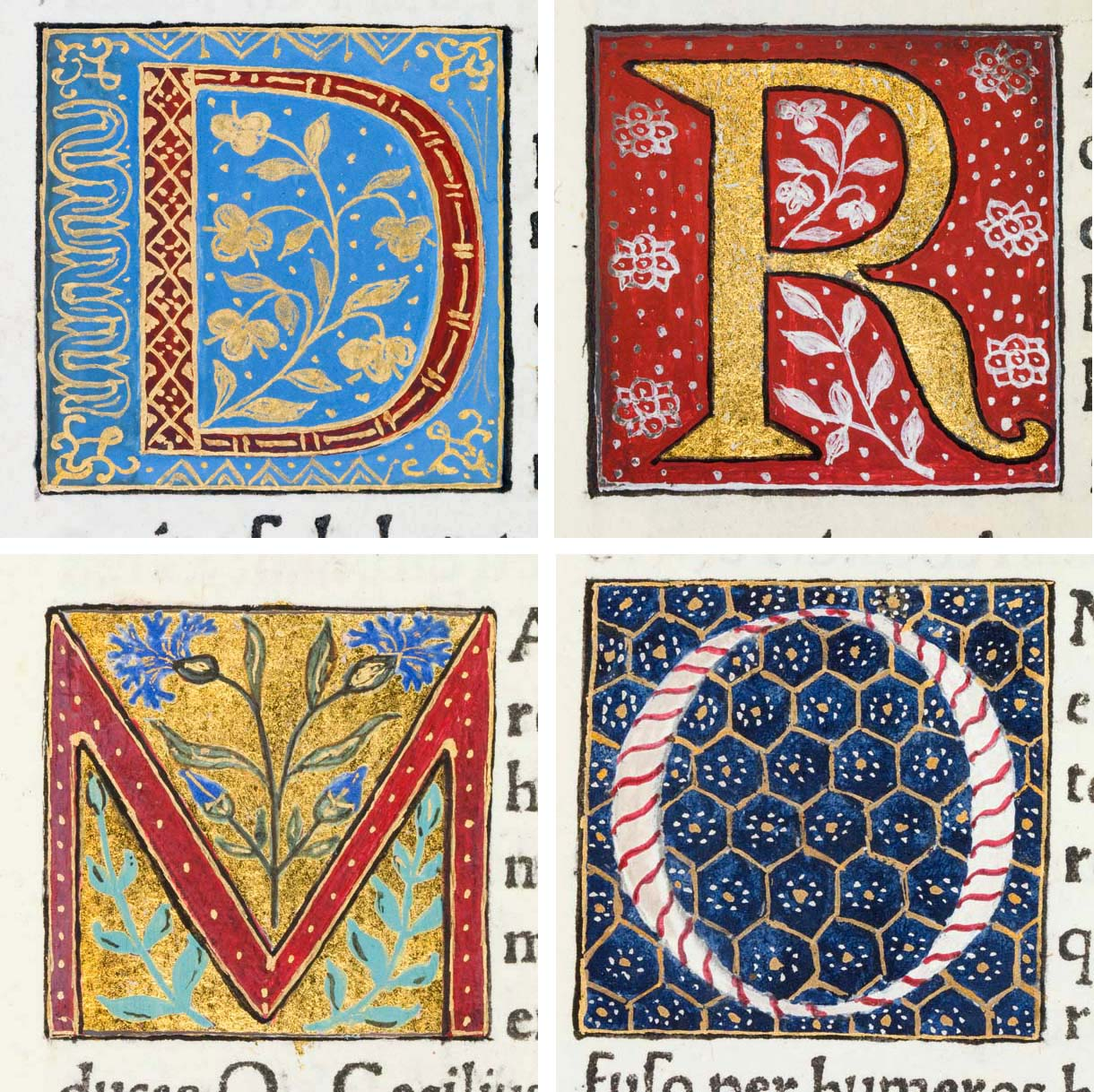 Medieval Illuminated Letter Patterns