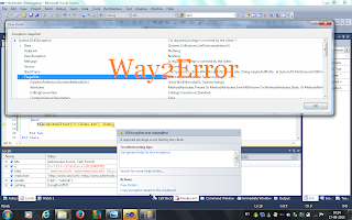 IOException was unhandled windows 7