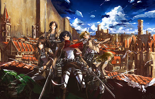 Attack on Titan Shingeki no Kyojin Sasha Browse Mikasa Ackerman Annie LeonHardt Chirsta Renz Conny Springer Anime Girls Sword HD Wallpaper Desktop Background