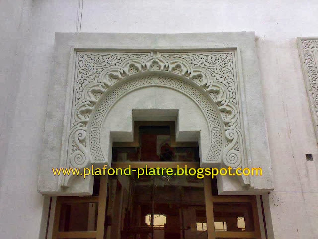 Faux plafond platre 2014 d coration et design for Decoration porte marocaine