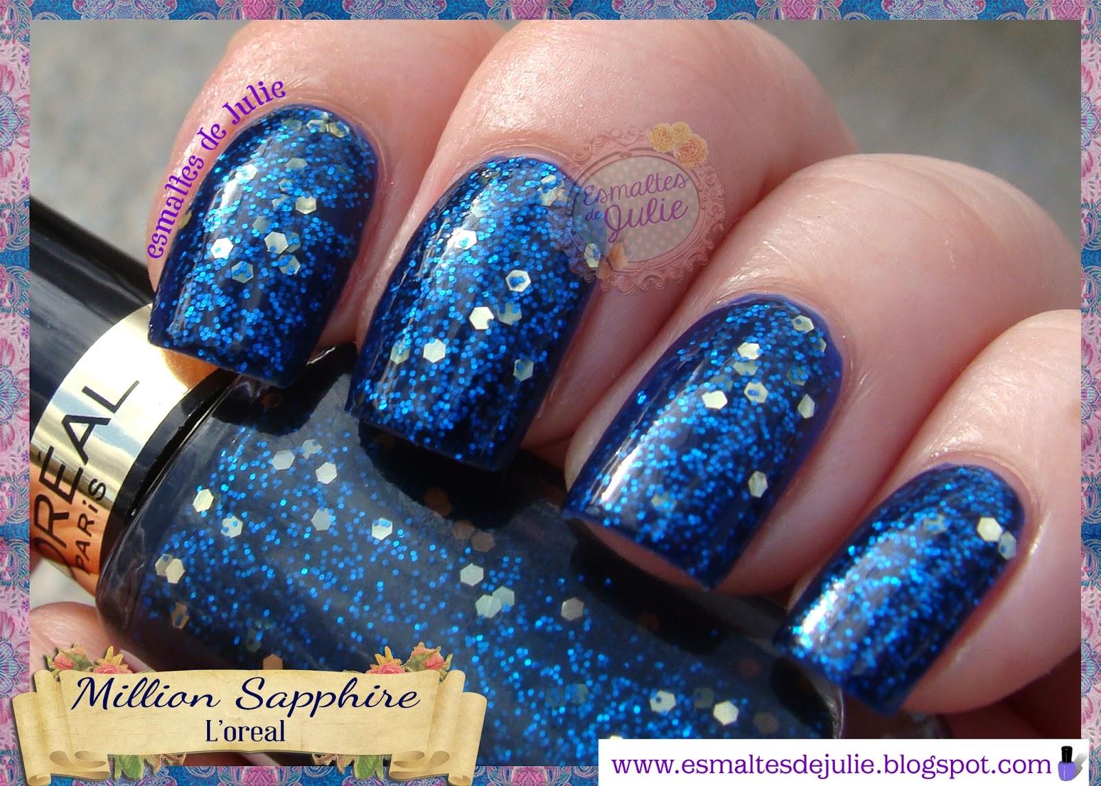Esmaltes de Julie: Million Sapphire: Como un cielo estrellado