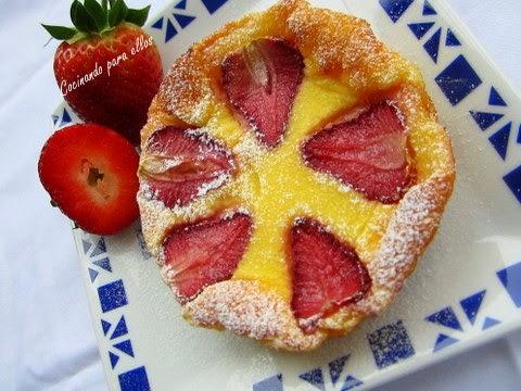 Cocinando para ellos pastelitos de queso con fresas - Cocinando para ellos ...