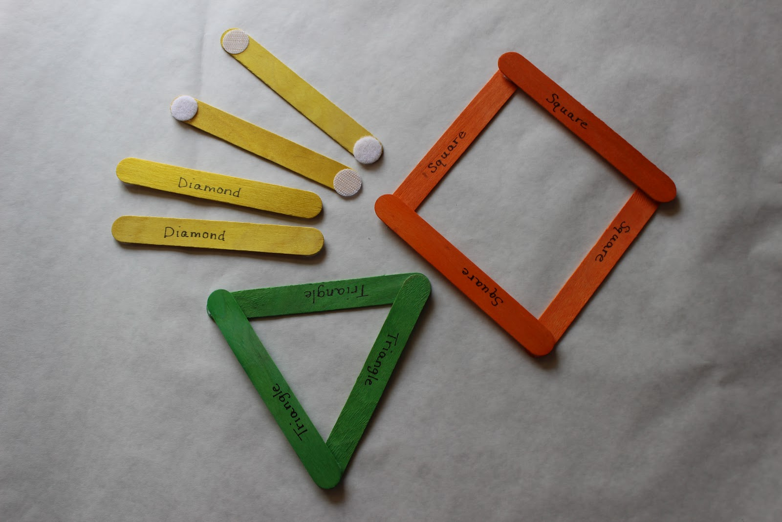 Building Shapes With Popsicle Sticks | apexwallpapers.com