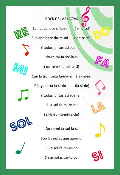 Aula musical el rock de las notas for Al jardin de la republica letra
