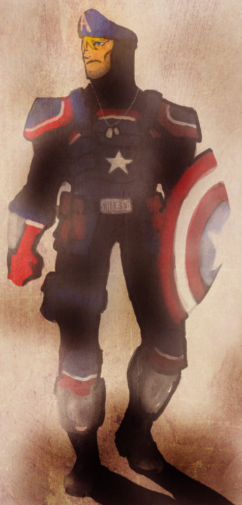 Captain America Redesign por robotsLOVEcandy