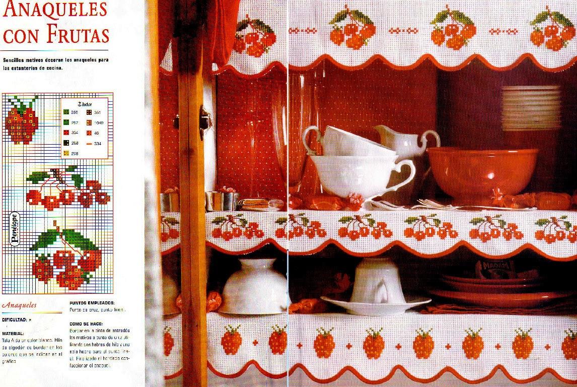 Вышивка бордюры для кухни 30