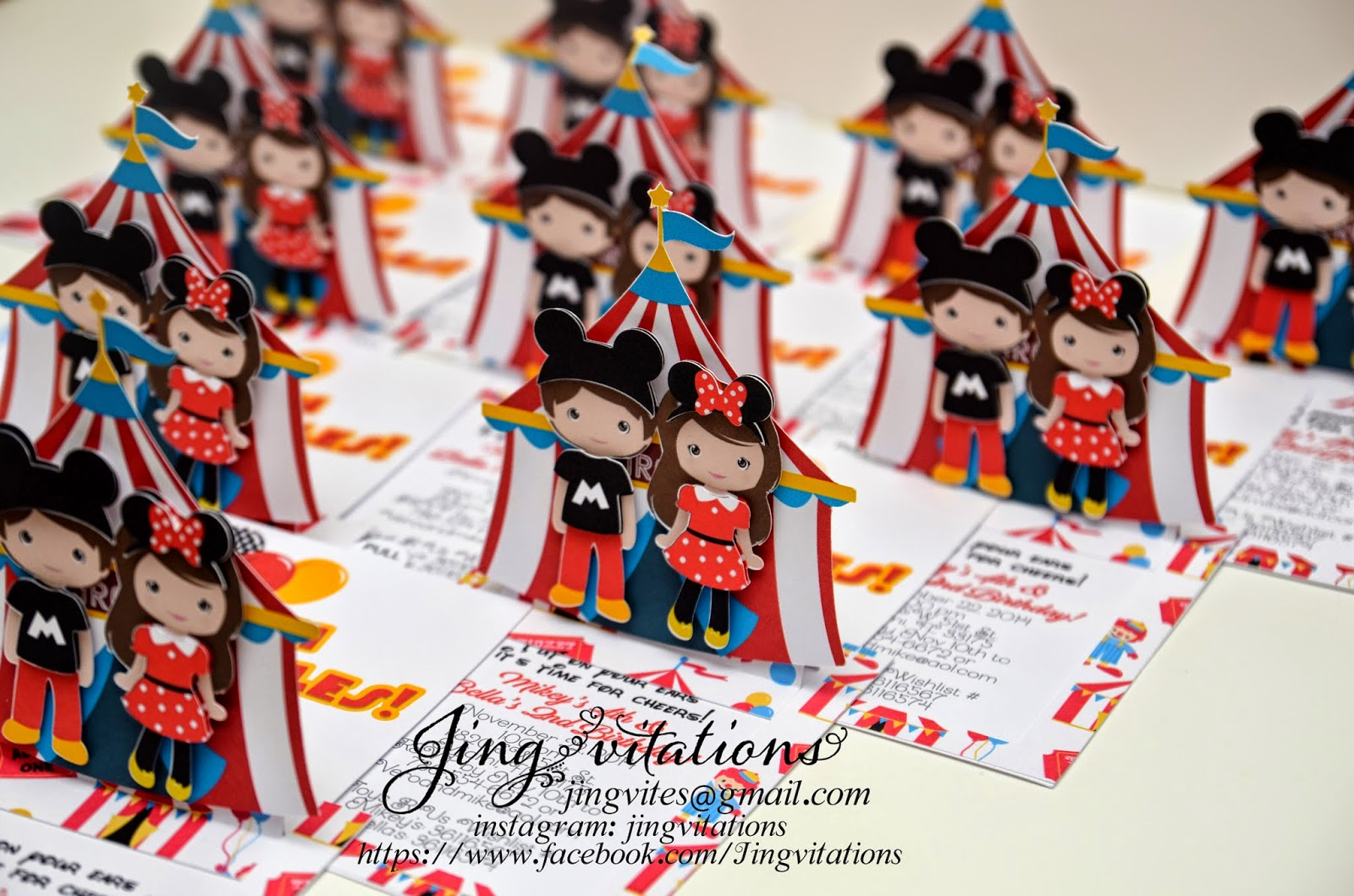 handmade circus invitations