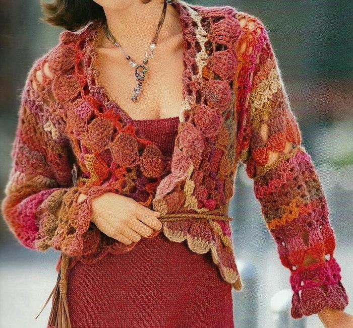 Crocheting Sweaters : Crochet Sweaters: Crochet Cardigan For Women - Circular Cardigan