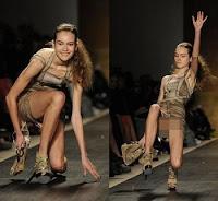 Falling Model: Herve Leger