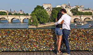 Leave a love lock on a bridge this Valentine's Day