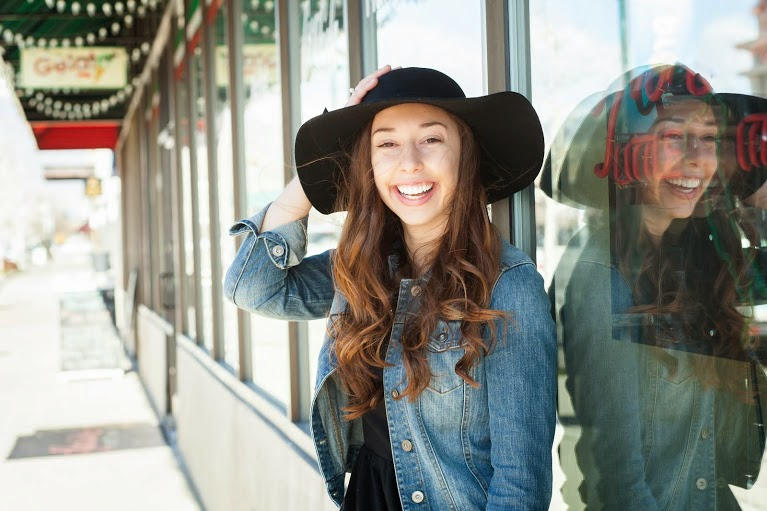 pocket of blossoms: floppy hat