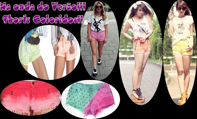 Shorts coloridos!