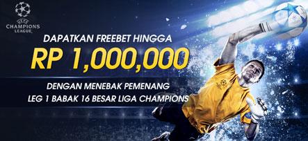 Dapatkan Freebet Hingga 1Juta di 16 Besar Liga Champions