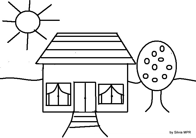 Dibujar una casa imagui for Casas para dibujar