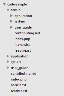 codeigniter basic structure admin panel