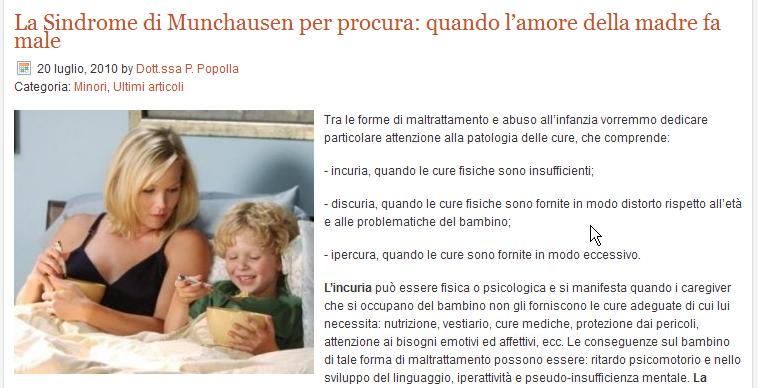 Dr domenico cimino pediatra antibiotici uso ed abuso for Sindrome di munchausen per procura