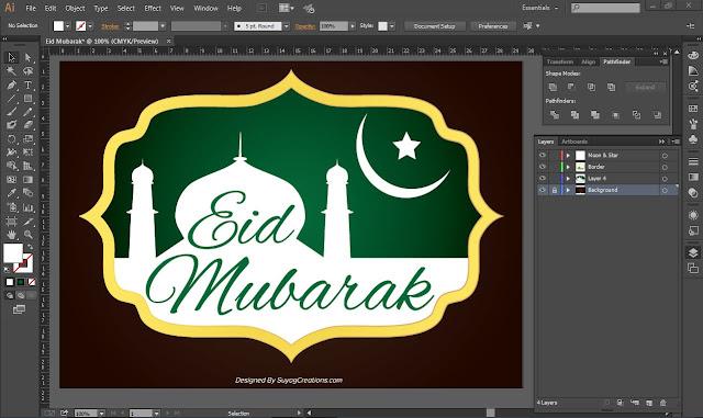 Eid Mubarak Background Photo and PSD Free Download