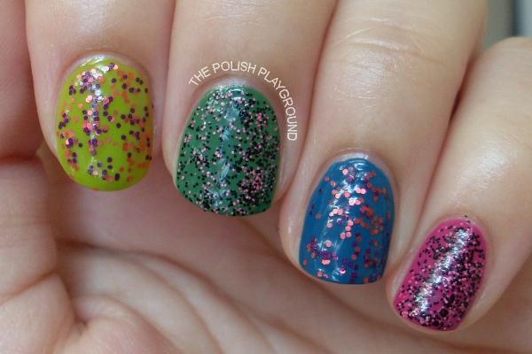Matte Glitter Nails