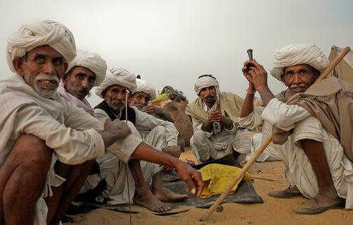 pushkar fair camel vendors