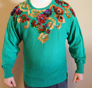 diy sequence ugly christmas sweater